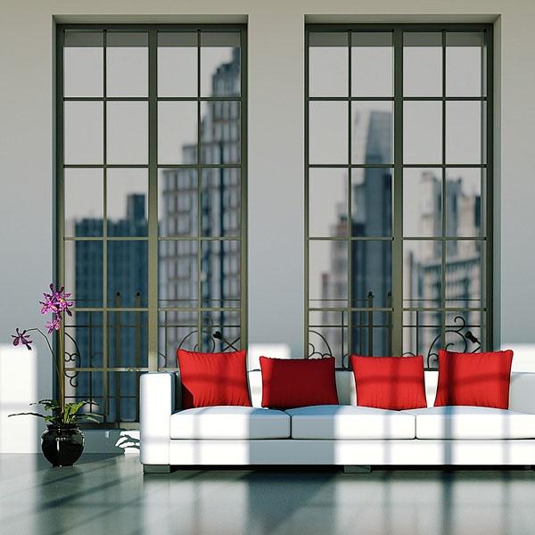 Sonnenschutzfolie Silber Mittel Innenmontage (Rollenbreite 152 cm)
