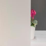 Milchglasfolie Weiß seidenmatt (Rollenbreite 91cm)